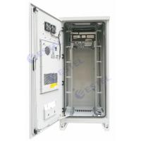 Weatherproof 40U Air Conditioner Type Outdoor Telecom Cabinet With Emerson Power Supply Manufactures