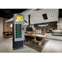China Restaurant Mall Cell Phone Charging Station With Advertising Touch Screen on sale