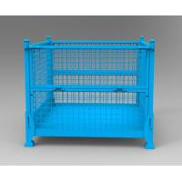 Heavy Duty Collapsible Stacking Steel Mesh Pallet Box for Sale Manufactures