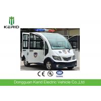 Rear Drive Battery Operated Electric Pick Up Cart With Horn Speaker / Enclosed Passenger Cabin Manufactures