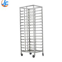 16 Storey Bakery Tray Trolley , Stainless Steel Baking Rack Baking Tray Rack Trolley Manufactures