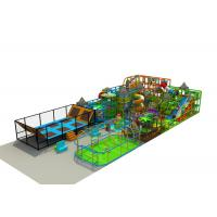 Large Indoor Play Structures / Indoor Playground Set With Soccer Playing Area And Trampoline Manufactures