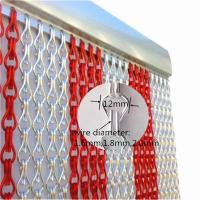 China Flying Insect Bug Door Curtain Blind Screen Chain Link Aluminium on sale