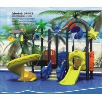 China High quality kids outdoor playground plastic combined slides on sale