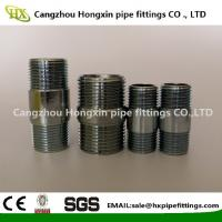 China ASTM A53 Steel pipe NPT thread steel pipe nipple with hot dip galvanized on sale