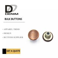 Customize Decorative Brass Jeans Fasteners Metal Clothing Buttons Brand Style Design Manufactures
