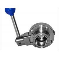 China Full Port Sanitary Butterfly Valves , Manual Butterfly Valve 100% Hydraulic Pressure Tested on sale