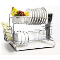 2 Tier Easy Install Kitchen Storage Racks / Cutting Board Holder With Removable Drain Board Manufactures