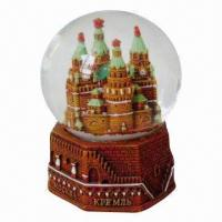 8 x 10cm Snow Globe with Hand Painting, Suitable for Promotions/Giveaways, OEM Orders Welcomed Manufactures