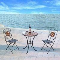 Three-piece Patented Mosaic Outdoor Bistro Set, Easy to Assemble