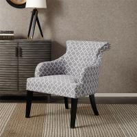 Quality Rollback Decorative Floral Accent Chair Sitting Room With Solid Wood Legs for sale