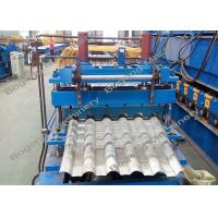 China Automatic Roof Tile Machine , Metal Roof Tile Manufacturing Machine on sale