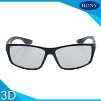 Buy cheap Long Time Use Linear Polarized 3D Glasses Anti Scratch Film Black Frame from wholesalers