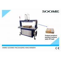 Customized Size Carton Strapping Machine , High Capacity PP Belt Corrugated Boxe Baler Manufactures