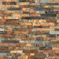 Natural stone S1120 Rock Face Finished Slate Ledge Panel, Cheap Rust Slate Wall Cladding Manufactures