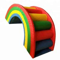 China Rainbow Style Indoor Soft Play Equipment , Colorful Commercial Play Equipment on sale
