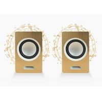 China Wired Laptop 2.0 Pc Speakers / Computer Stereo Speakers Gold / Brown Color on sale