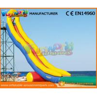 0.55 MM PVC Tarpaulin Crazy Long Water Slide City Giant Inflatable Water Slide Manufactures