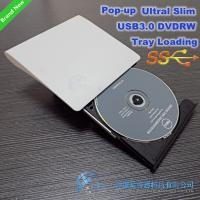 100% new SATA Tray load 9.5mm USB3.0 DVD Burner External DVDRW Drive (White/ Black) Manufactures