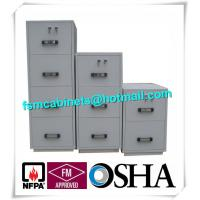 China Steel 4 Drawers Fire Resistant File Cabinets , Fireproof File Cabinets For Documents on sale