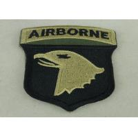 China Air Borne Custom Embroidered Patch Cotton Printed Sew On Patches on sale