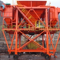 Cyclone Dust Proof Movable Wheel Mounted Port Hopper Manufactures