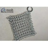 4X4 Inch Ring Mesh Stainless Steel Pot Scrubber For Kitchen Square Shape Manufactures