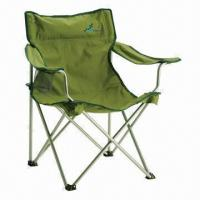 China Foldable Beach Chair with carry bag and cup holder on sale