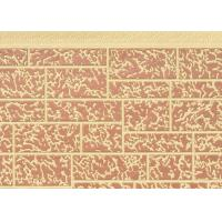 Eco Friendly 0.4mm Steel PU Sandwich Wall Panel Stone Pattern Width 380mm Manufactures