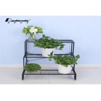 Wrought iron flower multilayer floor type removable three layer simple, green space style flower pot storage rack Manufactures