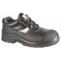 Black Anti Slip PPE Safety Shoes Water Proof Oil Proof With Steel Toe Cap Manufactures