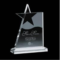 China Novelty Engraved Crystal Acrylic Award Plaques / Acrylic Star Trophy on sale
