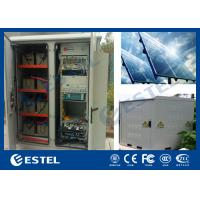 Generator Compartment Base Station Cabinet With Solar Controller / Solar Cell Panel Manufactures