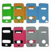 Leather Cases for iPhone 4/4S, OEM Orders are Welcome Manufactures