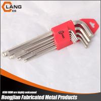 custom 9pcs nickel plated long arm Ball point allen key wrench Manufactures