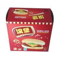 White Paperboard Colorful Printing Paper Box Packaging For Hamburger Manufactures