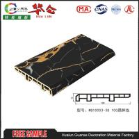 Quality 100mm Cheap Decorative 3d pvc wall panels shower wall panels OAK SKIRTING BOARDS for sale