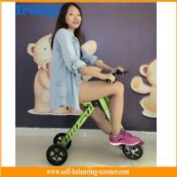 China Green Lightweight Electric Scooter / 350W Folding Scooter For Adults on sale