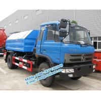 China Hydraulic lift blue color Dongfeng 4X2 8 ton hook lift truck cheap price for sale on sale