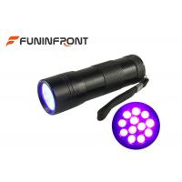 12 LEDs Black Light 395NM UV LED Flashlight for Nail Polish, Scorpion Hunt Manufactures