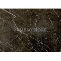 Outdoor Gold Brown Marble Slab Tile Customized Size With Gold Vein Manufactures