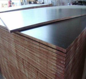 China Concrete Formwork Film Faced Marine Plywood , WBP Glue Film Coated Plywood Panel on sale