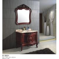 Modern Timber Bathroom Cabinets Set Floor Mounted double door Customized Manufactures