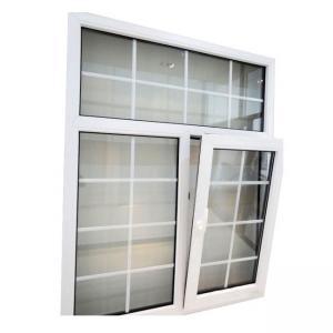 China PVC Windows Grill Design Double Glazed Glass Energy Saving Profile on sale