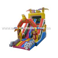 Home Use Inflatable Slide In Safari Park Design For Children Party And Holiday Manufactures