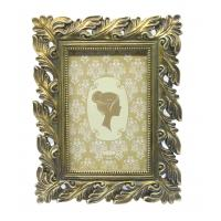 Exquisite Silver Leaf Antique Style Photo Frames 5 X 7 Ivory Brushed Handcrafted Manufactures