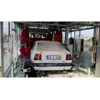 Tunnel Type Car Washing Machine With Red Brush , High Pressure Water Spray System Manufactures