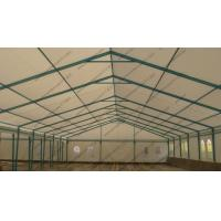 Blue Colored Portable Storage Tents Waterproof Steel As Semi - Permanent Warehouse Manufactures
