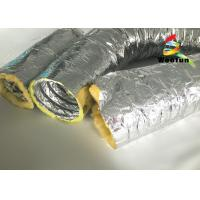 High Temperature HVAC 14 Inch Flex Heating Duct Insulation Wrap Single Layer Aluminum Foil Manufactures