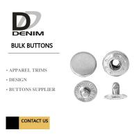 Silver Metal Snap Buttons Nickel - Free Embossed Logo For Brand Clothing Manufactures